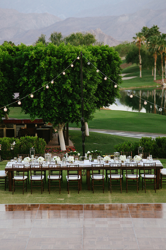 beautiful garden reception