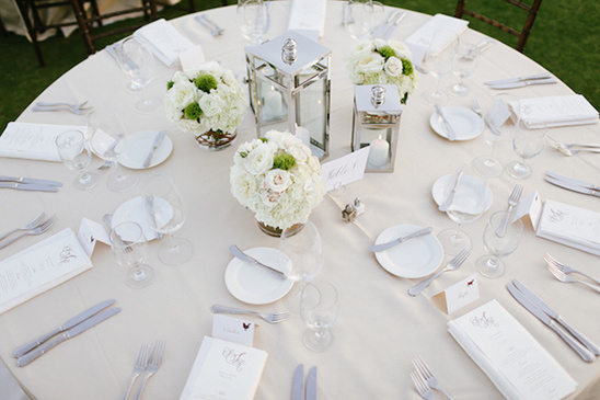 white reception ideas