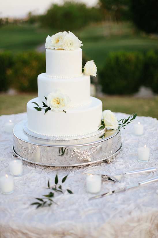 lovely white traditional cake