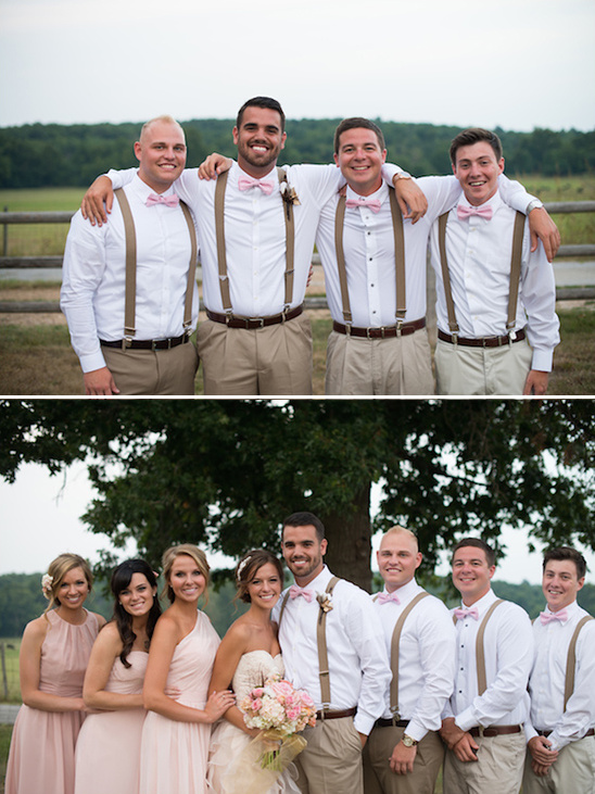 pink and brown groomsman ideas