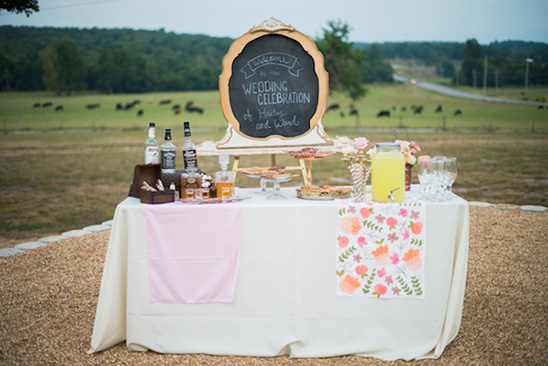 welcome wedding drink station