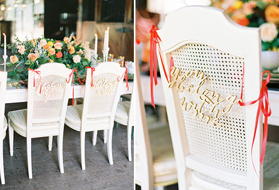 gold you belong with me chair signs