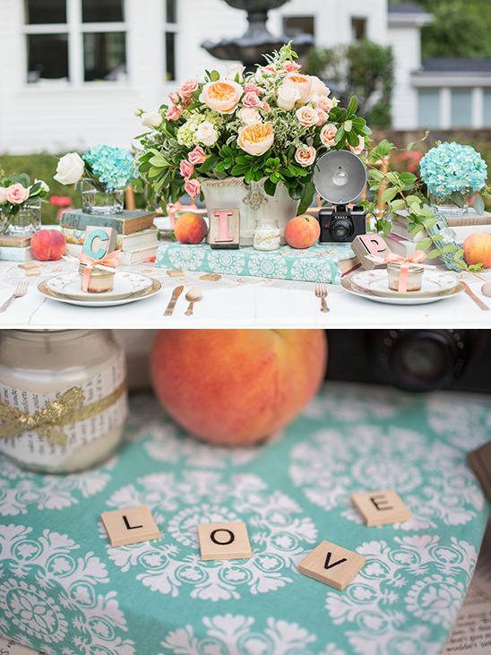 eclectic vintage inspired table decor