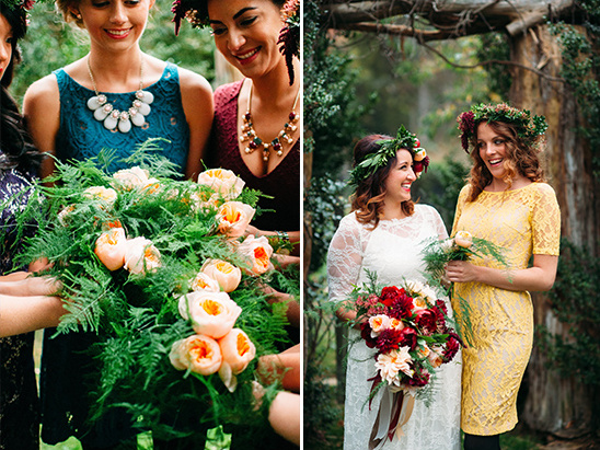greenery and garden rose bouquets