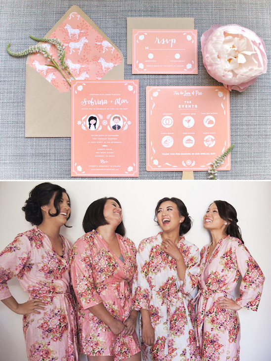 sweet peach stationery by Beach Design