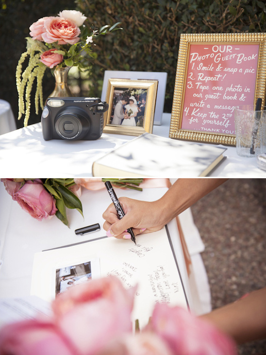 photo guestbook table