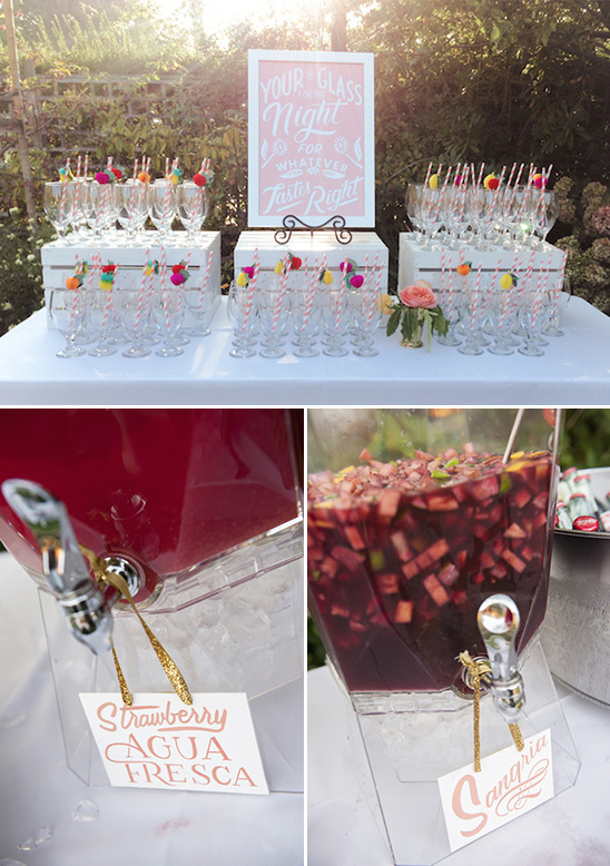 cute drink glass station