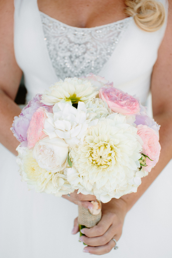 pink white and purple bouquet