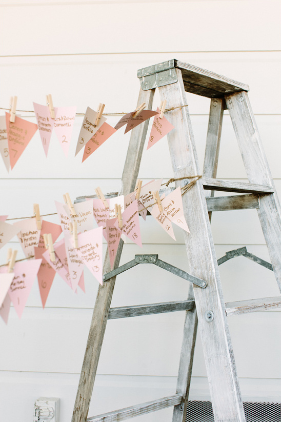 mini bunting escort card display