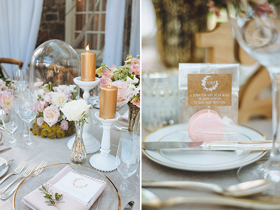 macaroon and charity favors