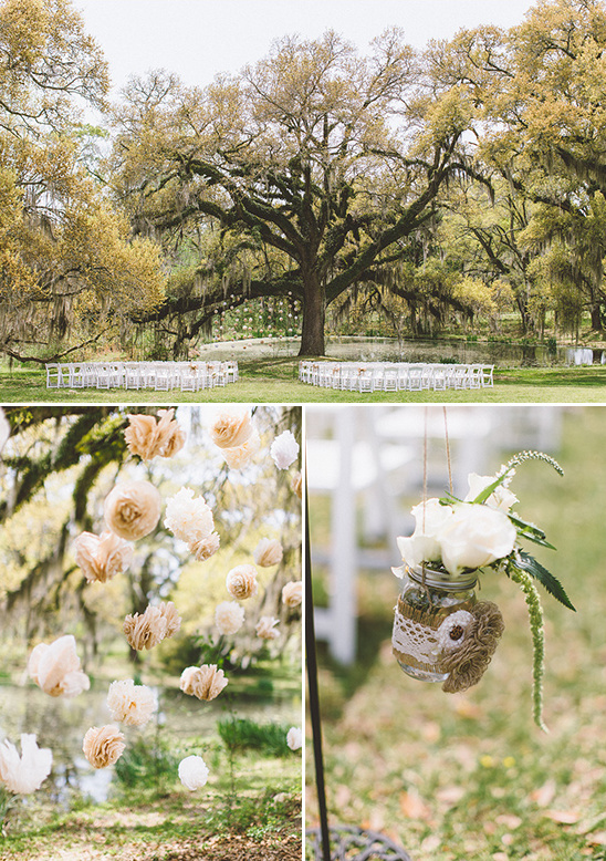 outdoor wedding with diy details