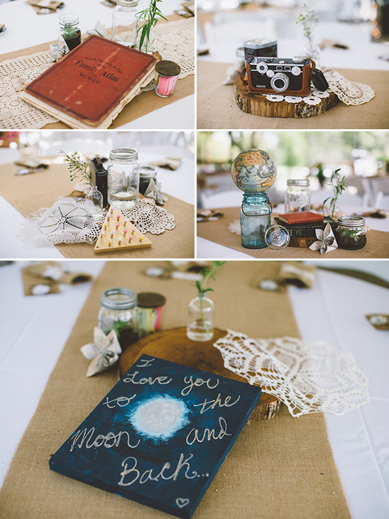 eclectic and vintage inspired centerpieces