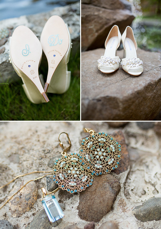 i do wedding shoes and blue wedding jewelry