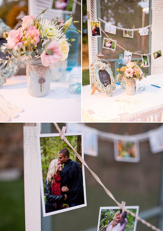 guestbook and photo display table