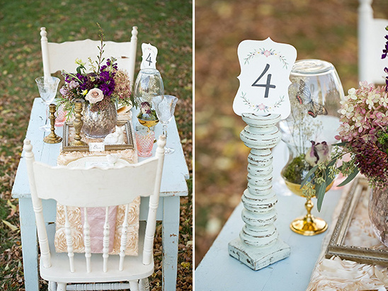 candlestick table number holder idea