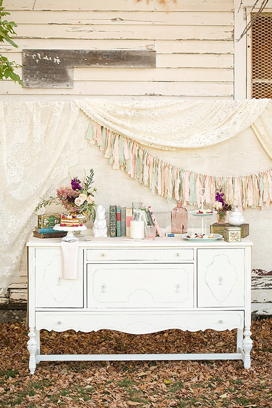 blush and mint dessert table