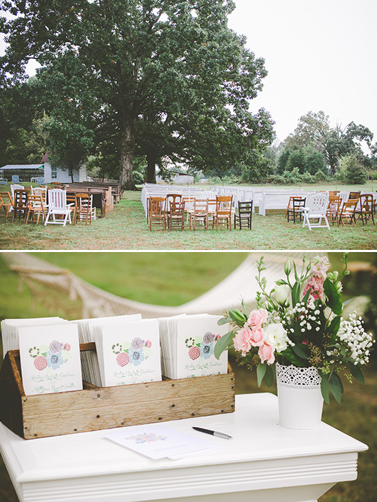 assorted seating outdoor wedding ceremony