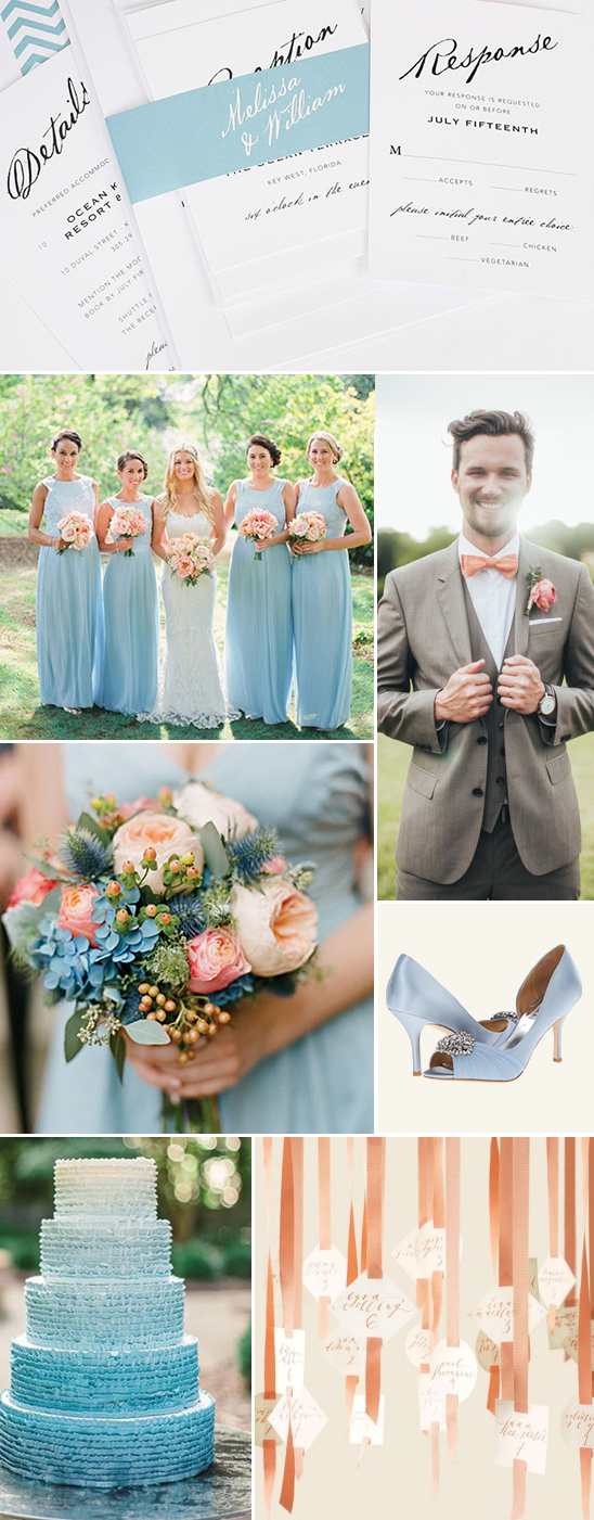 Blog chic and elegant wedding invitations - Matching colours with peach ...