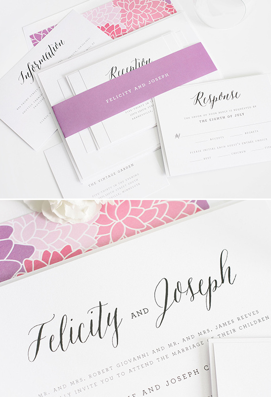 Chic And Elegant Wedding Invitations from Shine Wedding Invitaitons