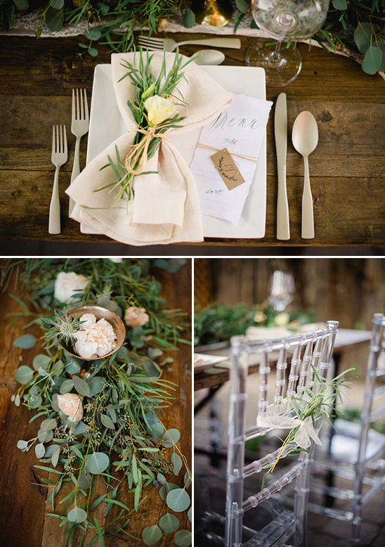 fresh and oraganic table decor