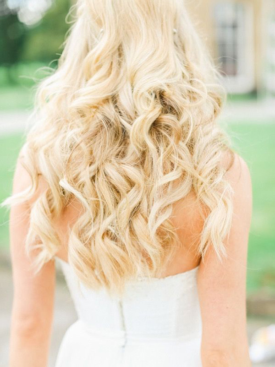 soft wedding curls