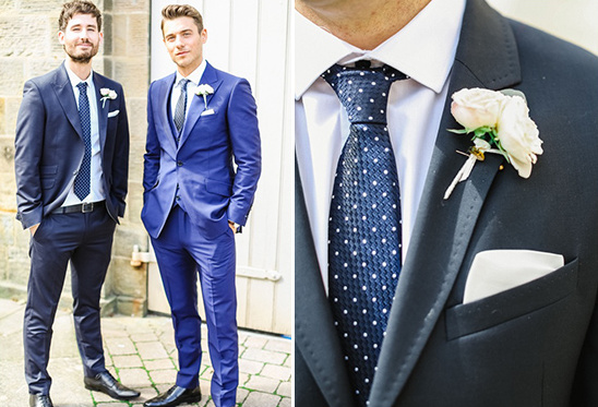 dashing navy and royal blue groomsmen