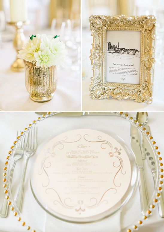 gold table embellishments