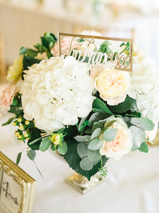 centerpieces with table names