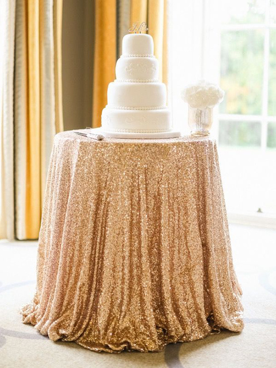 sparkly gold table cloth
