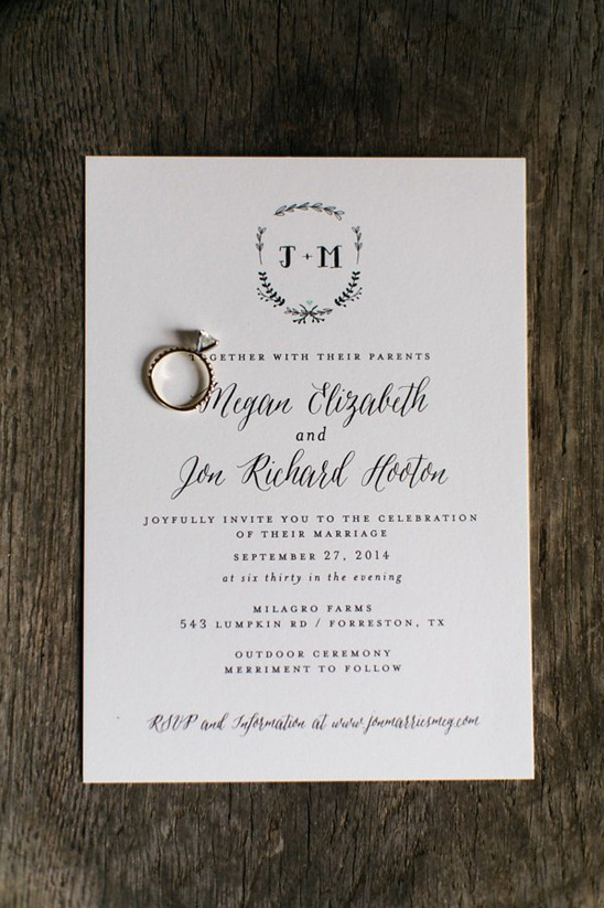 elegant wedding invitations by Minted