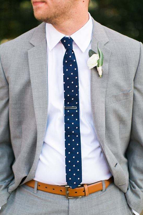 mini heart patterned tie