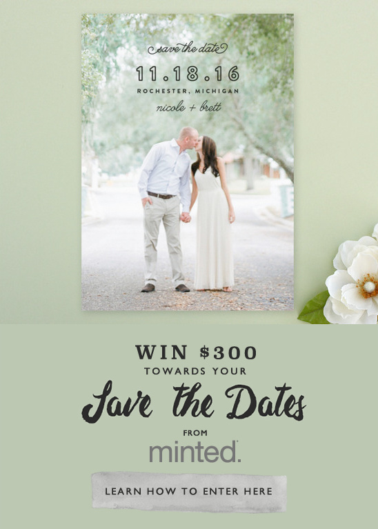 win your save the dates from Minted