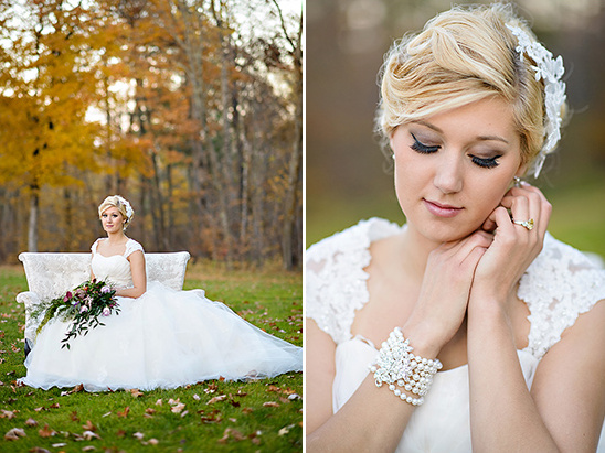 fall bridal look