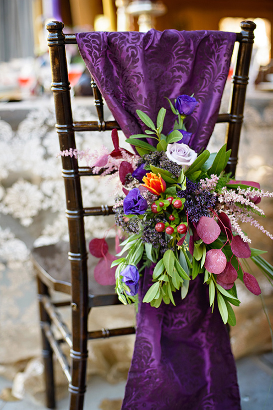 floral and cloth chair decor