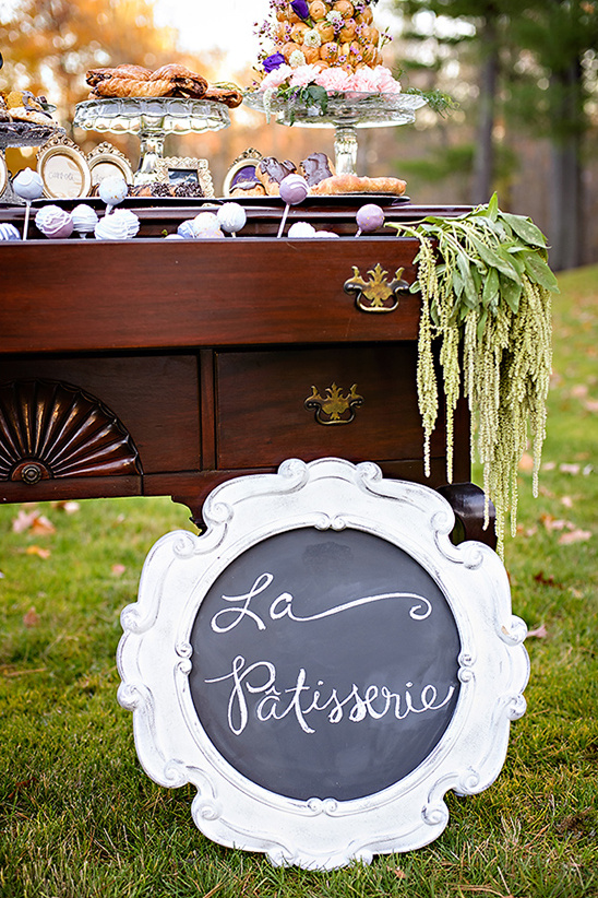 wedding dessert table sign