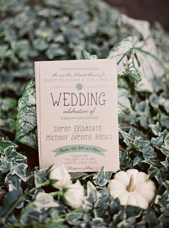 kraft wedding invites