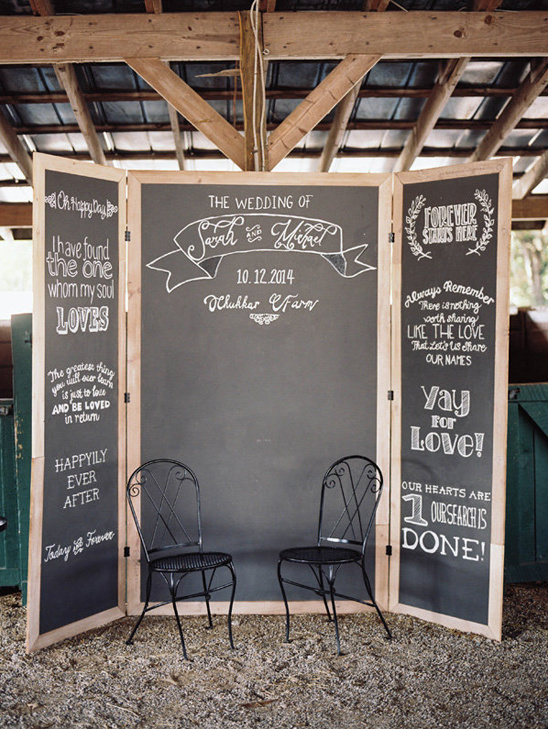 chalkboard photobooth backdrop