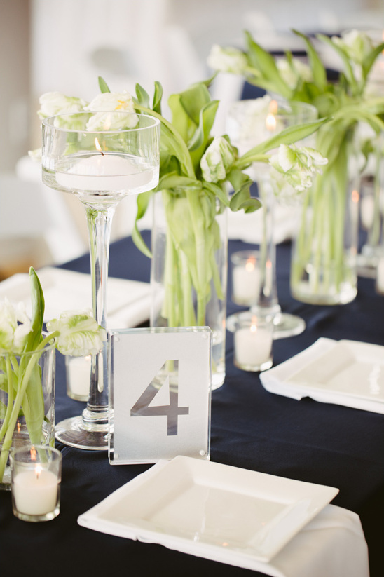 elegant candle and flower vase centerpieces
