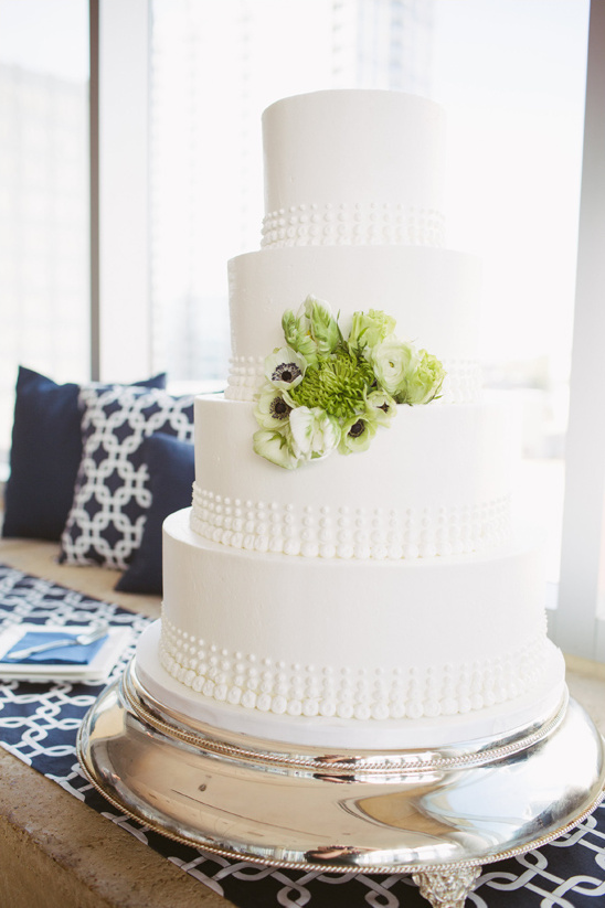 clean white wedding cake from Wow Factor Cakes