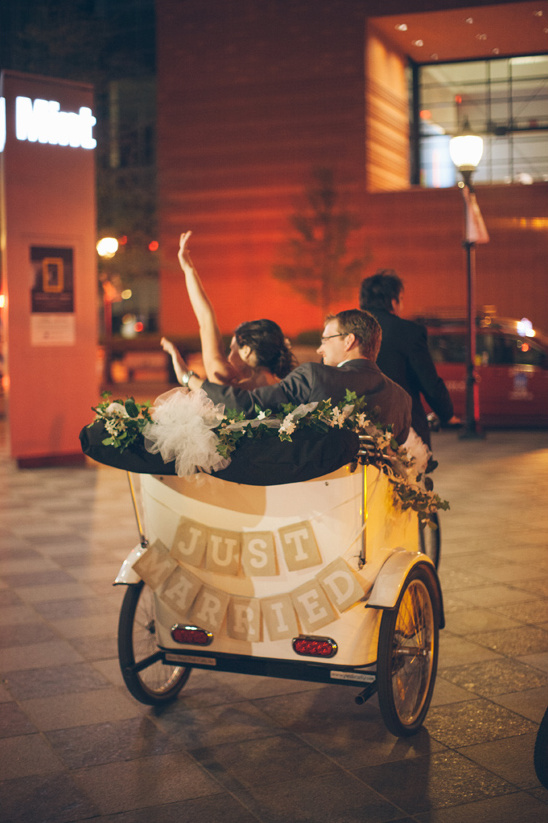 just married bicycle buggy
