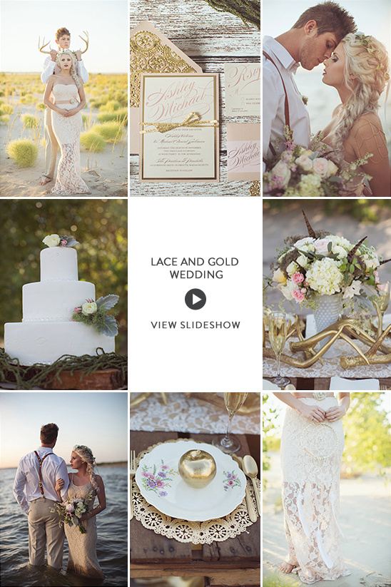 Lace and Gold Wedding Ideas