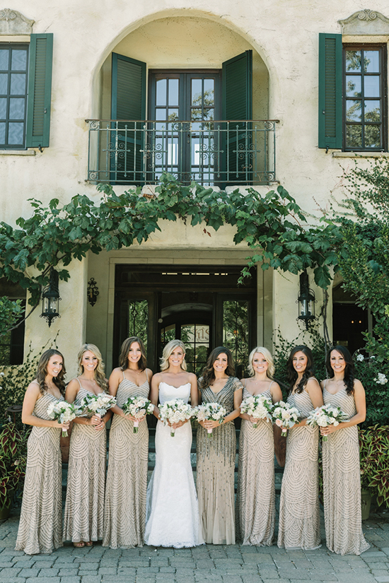 Floorlenght bridesmaids gown with sparkles
