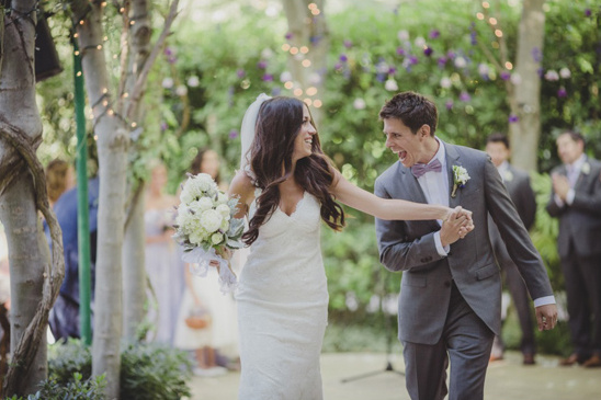 excited newlyweds