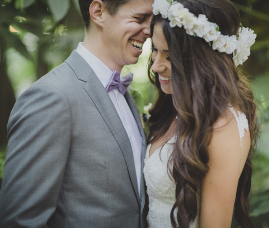 adorable bride and groom