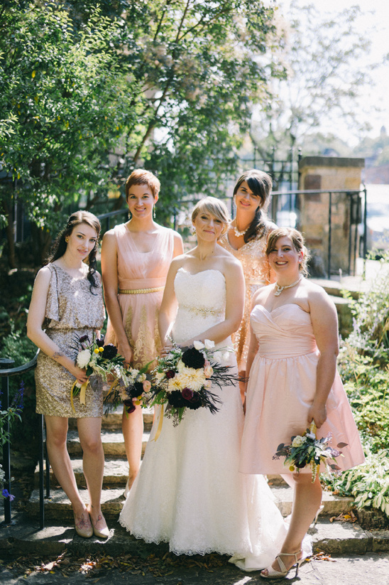 pink and sparkly bridesmaid dresses