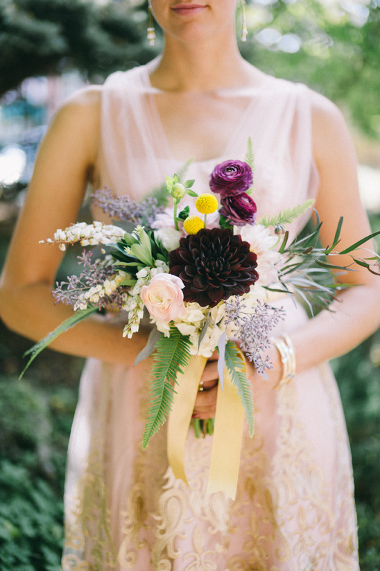 romantic bridesmaid bouquet