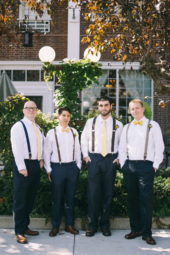 navy and yellow groomsmen