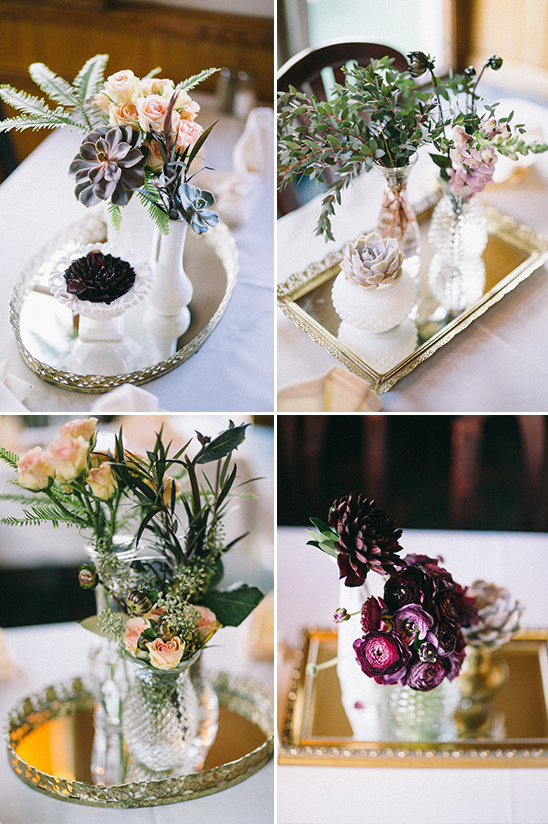 Orted Flower Arrangement Centerpieces Vintage Wedding Details