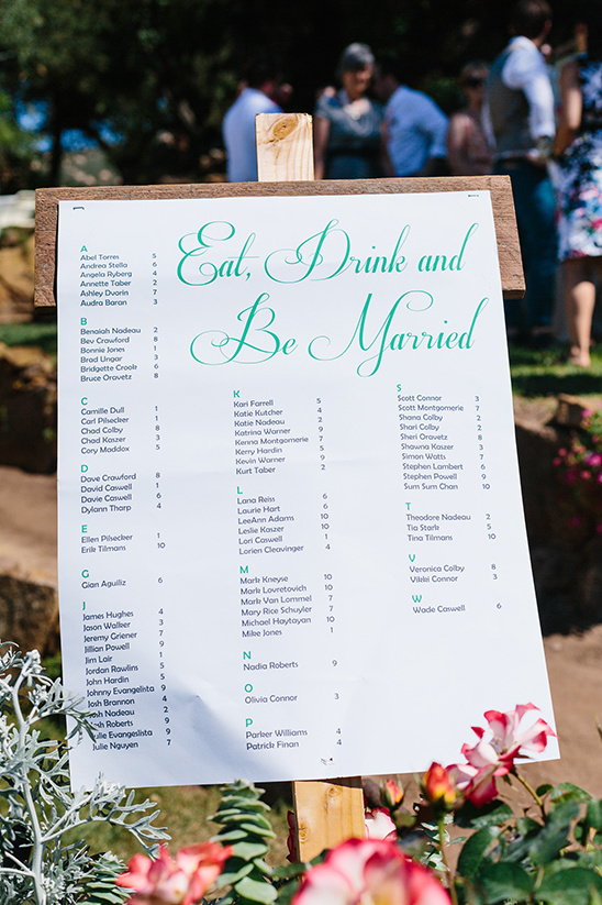 eat drink and be married seating chart