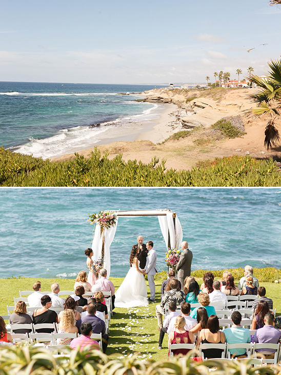 ocean side wedding ceremony in La, Jolla